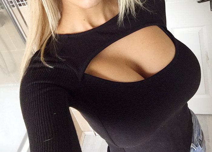 【着胸エロ画像】やっぱりでけえ!乳袋なんて言葉で足りないかもな海外の着衣おっぱい(*´д`*)