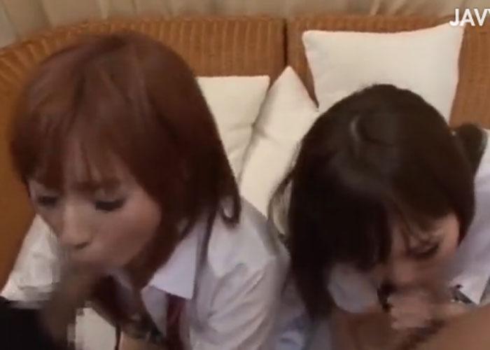 【エロ動画】セックス大好きJK2人、成瀬心美&麻倉憂の生中出し乱交!(*゚∀゚)=3 02
