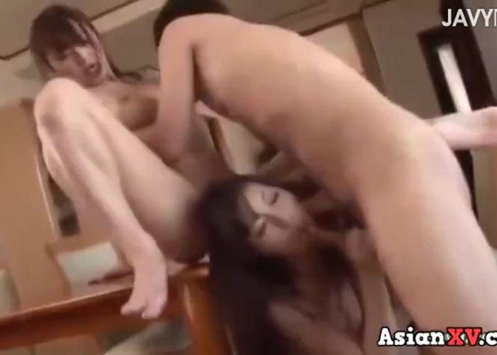 【エロ動画】美人姉妹をまとめて堪能させてもらう姉妹どんぶり3P!(;゚∀゚)=3 01