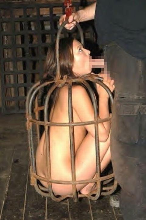 【人格否定】鳥籠に入れられて監禁されている女性たち