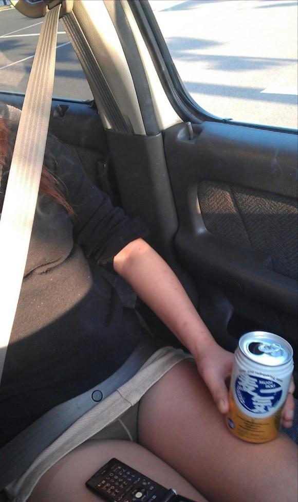 モテ男だけが見れる車内のエロふともも画像 part5