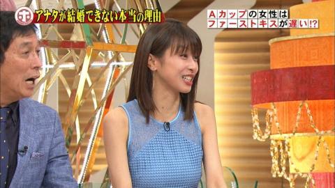 加藤綾子(31)「フジテレビならサービスするわよ!」⇒シースルーでおっぱい突き出すwww(※画像あり)