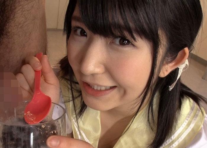 【エロ動画】ぶっかけと食ザーの魅力に溺れてごっくんしまくる美少女JK!(*゚∀゚)=3