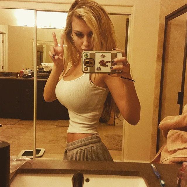 【着胸エロ画像】まさしく乳の暴力!危ないタンクトップボイン美女(;´∀`)