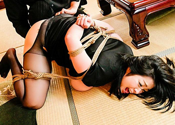 【エロ動画】鬼畜たちによる緊縛調教で快楽地獄に陥った爆乳未亡人!(;゚∀゚)=3 01