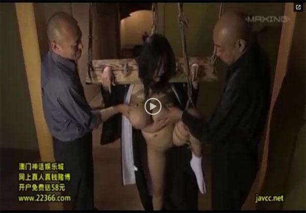 【エロ動画】鬼畜たちによる緊縛調教で快楽地獄に陥った爆乳未亡人!(;゚∀゚)=3 03