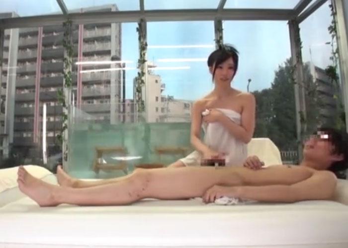 【エロ動画】MM号で混浴した即席カップルによる風呂上がりのセックス!(*゚∀゚)=3