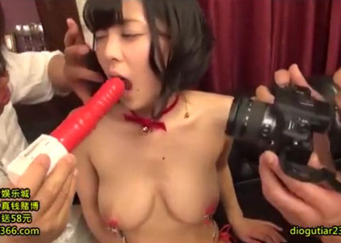 【エロ動画】変態2人のペットにされて痴態を連発する巨乳美少女!(;゚∀゚)=3