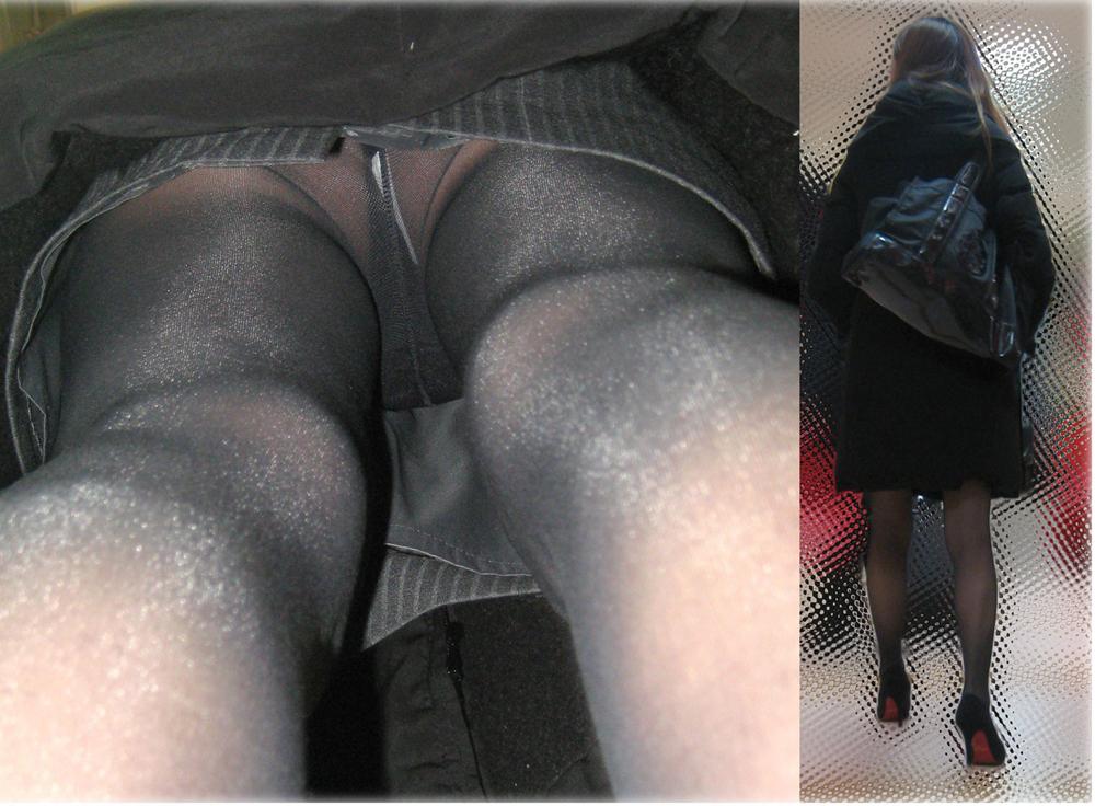 【パンチラエロ画像】下着もケツも見えて感動のTバック逆さ撮り(*´Д`)