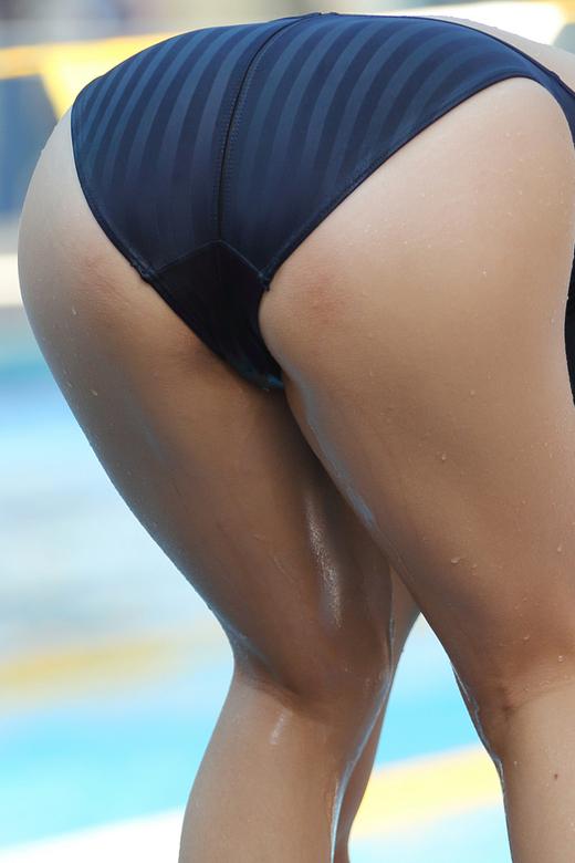 【水着エロ画像】正しく使ったのに…濡れて卑猥になった競泳水着女体(*゚∀゚)