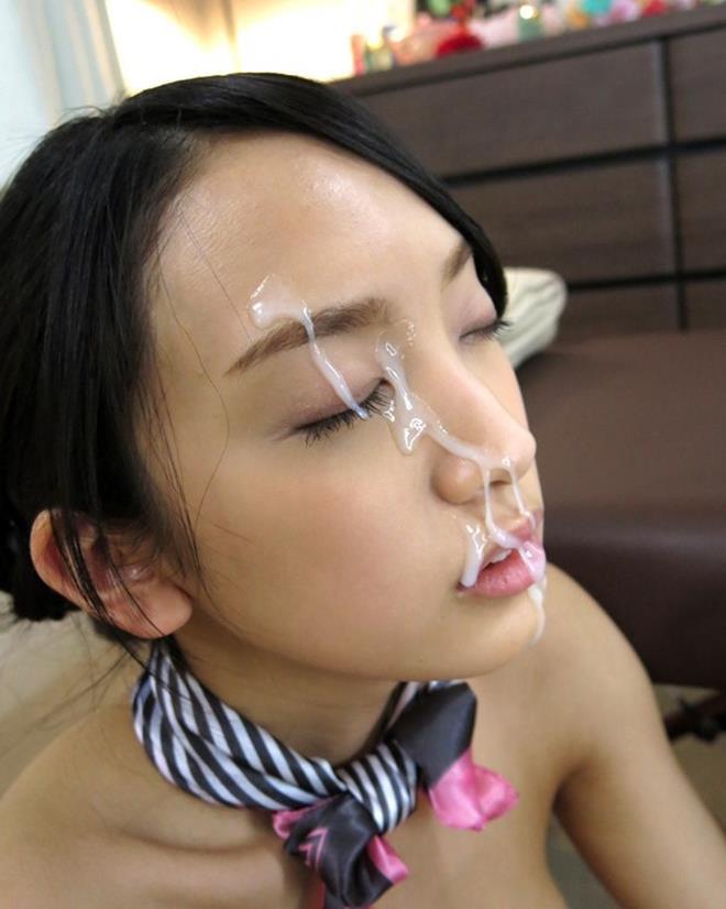 【顔射エロ画像】後始末が大変でも好きな女は存在する顔射(;・∀・)