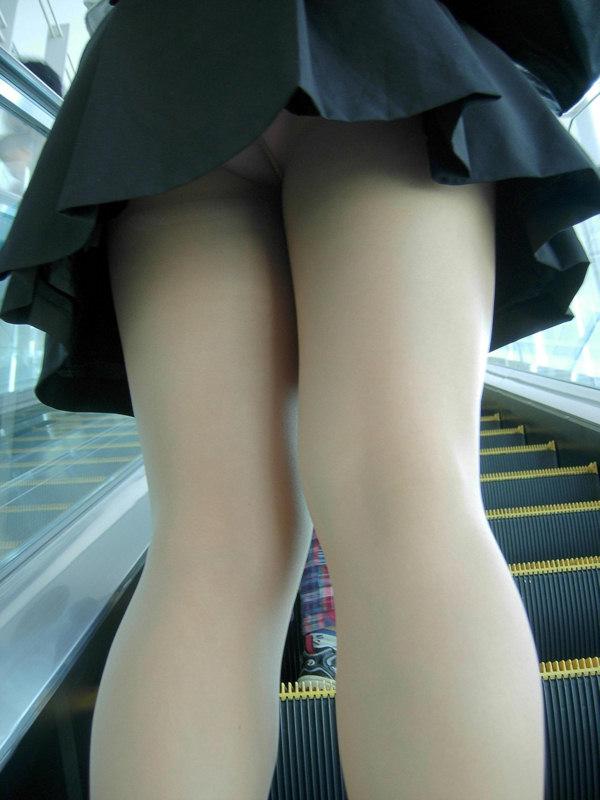 【パンチラエロ画像】階段のローアングルチャンスだけは放置なんてできない!(*´д`*)
