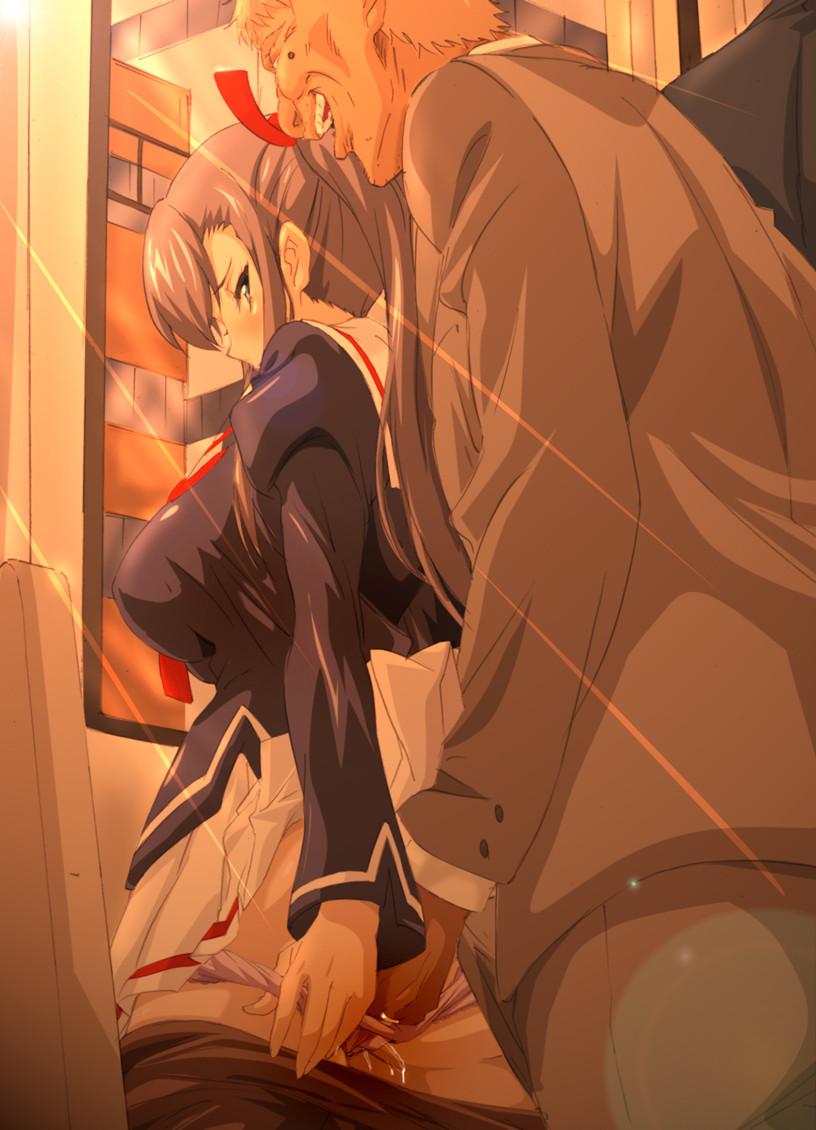 【二次エロ画像】悔しい、けど…のテンプレ通りに悶絶中な痴漢被害中の美少女(´・ω・`)
