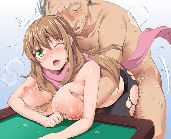 【二次エロ画像】相容れない訳でもなかったキモ男と美少女の交わり(゚A゚;)