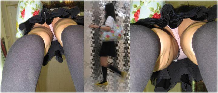 【パンチラエロ画像】ロングスカートすら敵ではない信頼の逆さ撮り!(;´Д`)