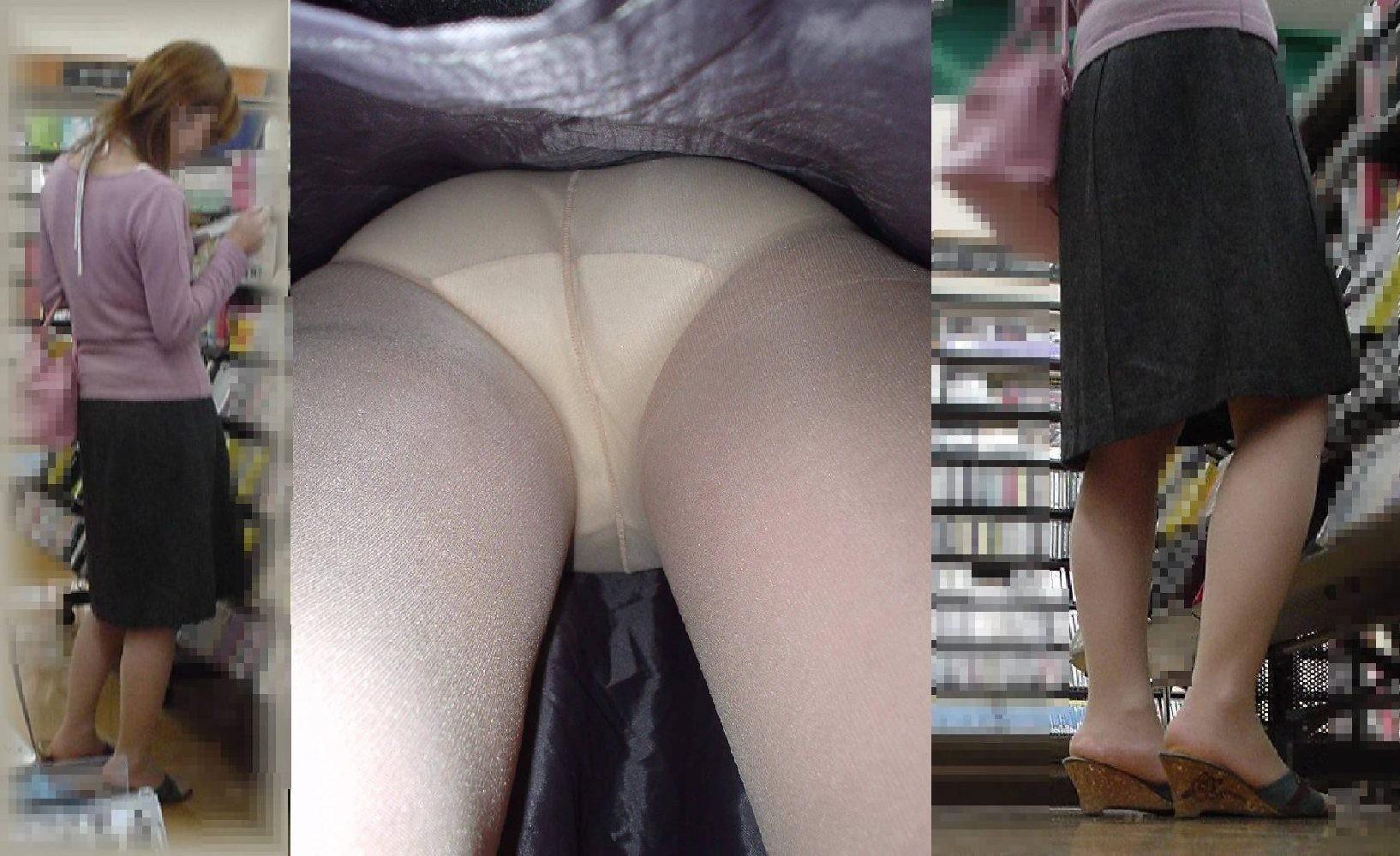 【パンチラエロ画像】今はきっとムレムレであろうパンツを逆さ撮り!(;´Д`)