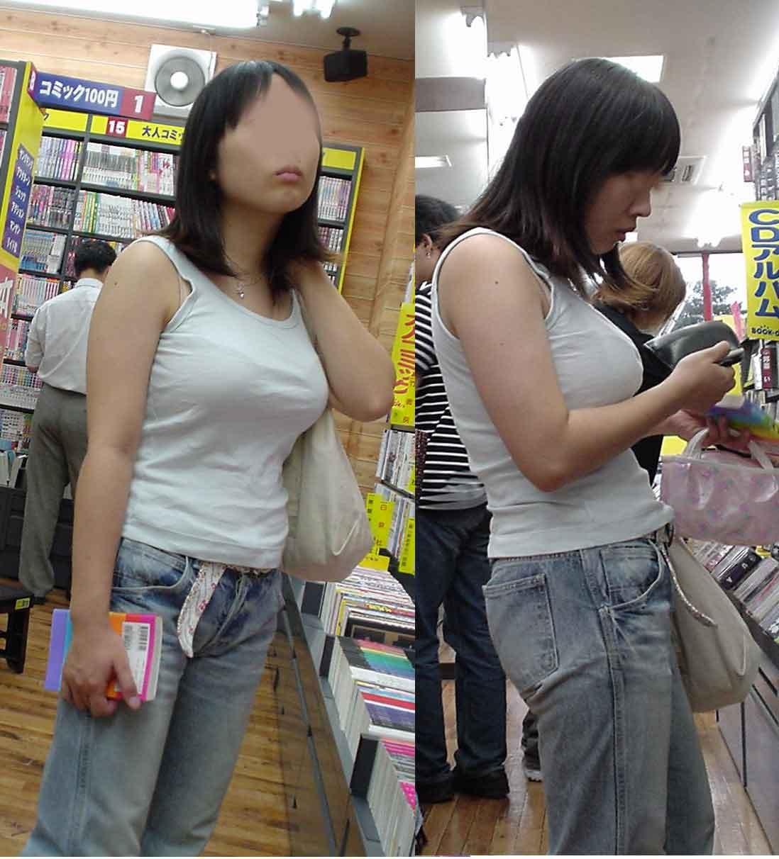 【着胸エロ画像】目立たせるしかないから巨乳を着衣で魅せる一般人たち!(;゚Д゚)