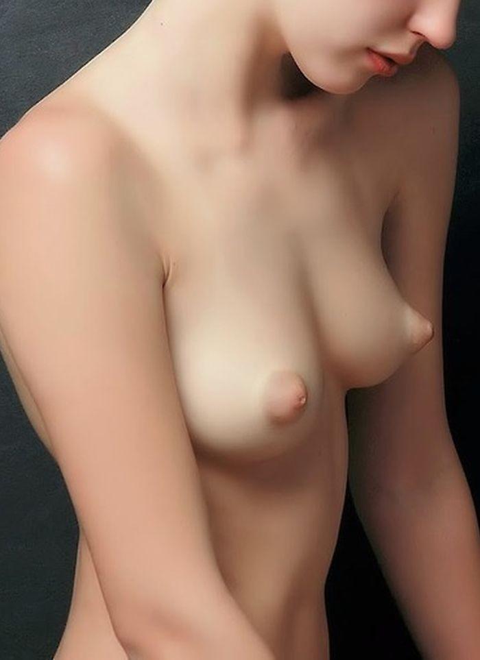 【乳頭エロ画像】痛そうな張り詰め加減がたまらないぷっくりパフィーニップル!(;゚Д゚)