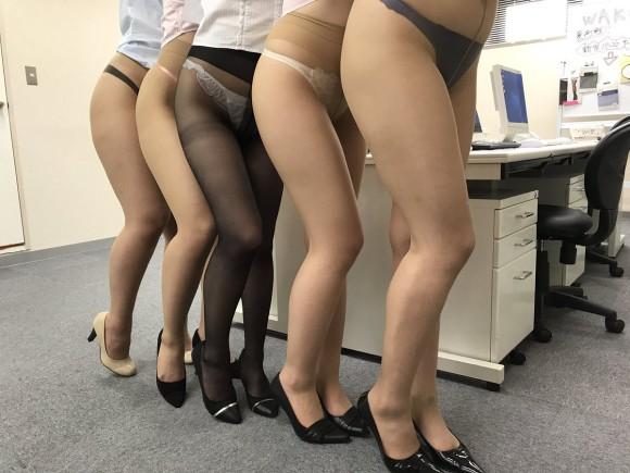 職場のOLがよく穿くベージュパンストのエロ画像 part33