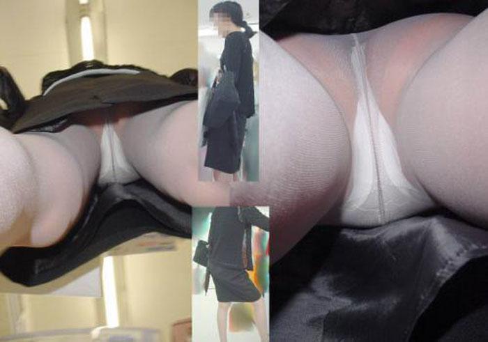【パンチラエロ画像】イイ下着にお尻が真上に!禁断のTバック逆さ撮り(;゚Д゚)
