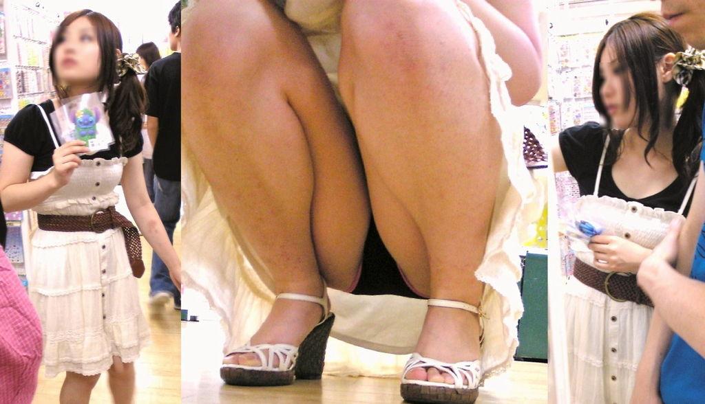 【パンチラエロ画像】春になったらたんまり鑑賞できるチャンスな座りパンチラ特集!(;゚∀゚)=3