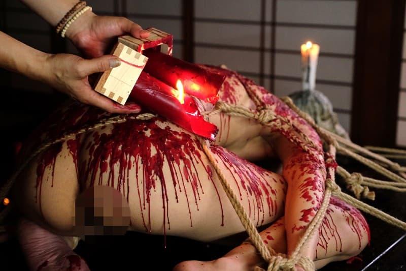 【SMエロ画像】熱さで全身責めまくり!熱蝋まみれにされてゆくM女たち(;゚Д゚)