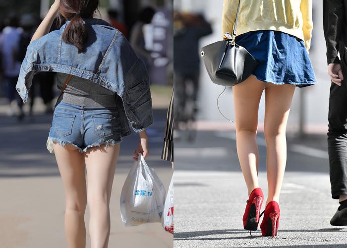 【美脚エロ画像】衣替えが終わるまでにまだいる街角生脚女子の下半身を観察!
