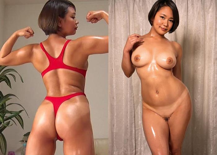 筋肉も凄い巨乳アスリート・堀越なぎさのエロ画像