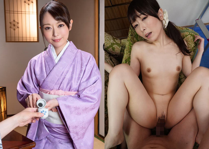 パイパン若女将・桜井萌のエロ画像