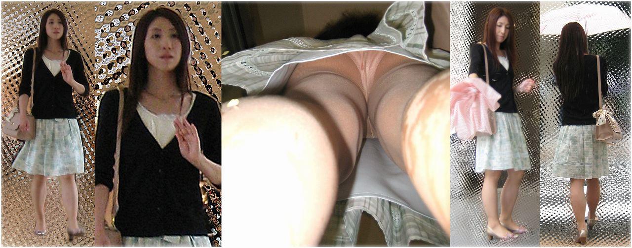 【パンチラエロ画像】隙だらけの真下に潜入!お尻もよく見える逆さ撮り