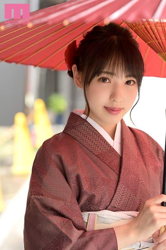 【白桃はなエロ画像】AVに憧れていた着付けが得意なお嬢さん・白桃はな!