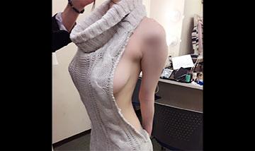 流行りの「童貞を殺すセーター」のエロ画像