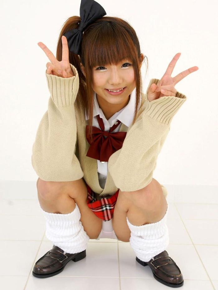 【制服コスプレエロ画像】コスプレといえども現役で通用しそうなJKコスプレの女の子! 19