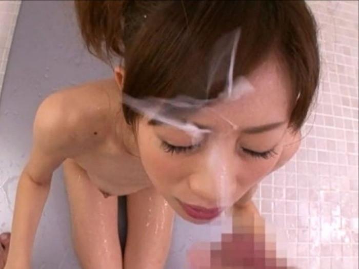 【顔射エロ画像】卑猥なほど顔面にぶっかけられたザーメンがエロ杉ワロタwww 05
