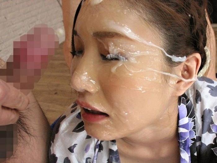 【顔射エロ画像】卑猥なほど顔面にぶっかけられたザーメンがエロ杉ワロタwww 20