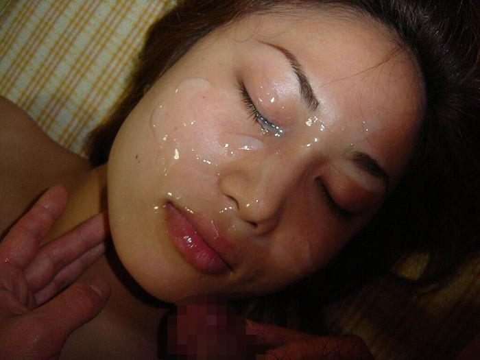 【顔射エロ画像】卑猥なほど顔面にぶっかけられたザーメンがエロ杉ワロタwww 21