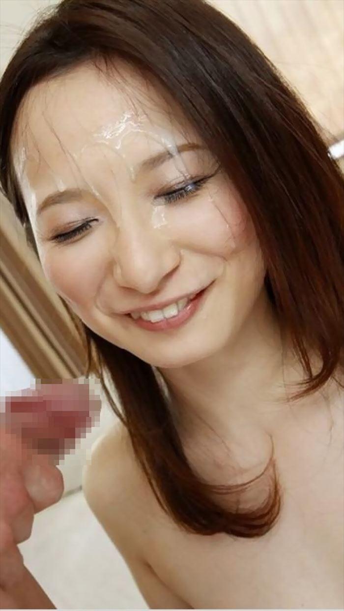 【顔射エロ画像】卑猥なほど顔面にぶっかけられたザーメンがエロ杉ワロタwww 25