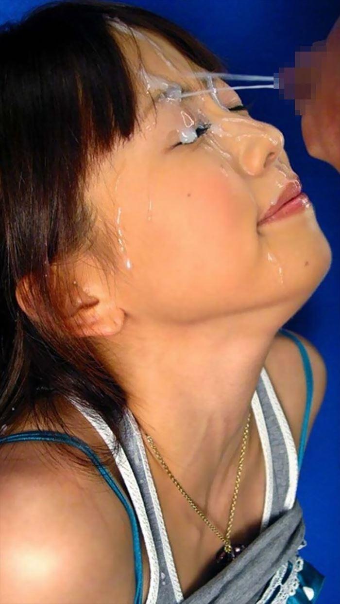 【顔射エロ画像】卑猥なほど顔面にぶっかけられたザーメンがエロ杉ワロタwww 26