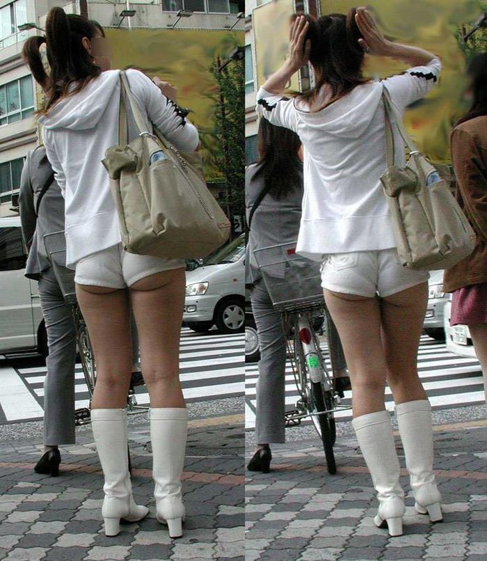 【ホットパンツエロ画像】街中でよく見かけるホットパンツもこうしてみるとエロいな! 17