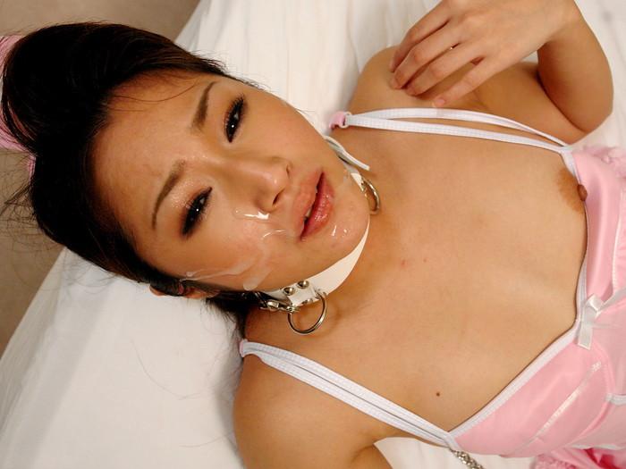 【顔射エロ画像】男の征服感を満たす顔射!ドロドロ精液で女の顔を汚す! 13