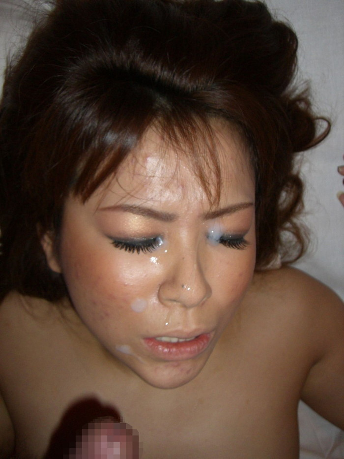 【顔射エロ画像】男の征服感を満たす顔射!ドロドロ精液で女の顔を汚す! 20