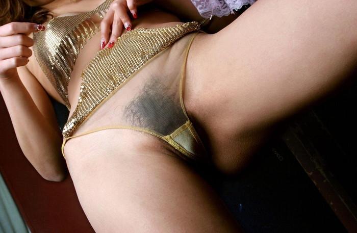 【シースルー下着エロ画像】スケスケのシースルー仕様のランジェリー! 14