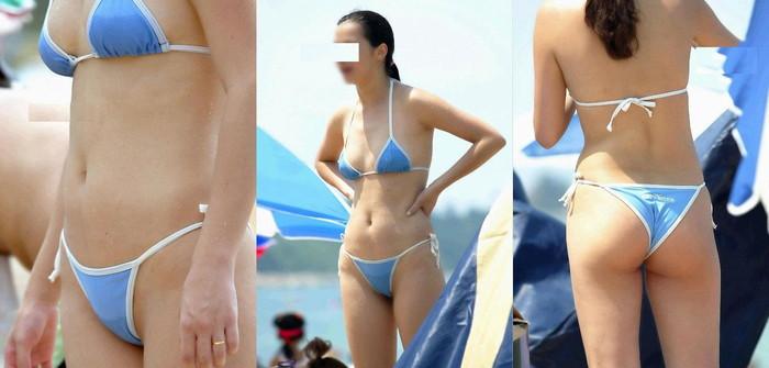【水着ハプニングエロ画像】夏の水着の女の子には是非ともこういうハプニングが欲しいww 16