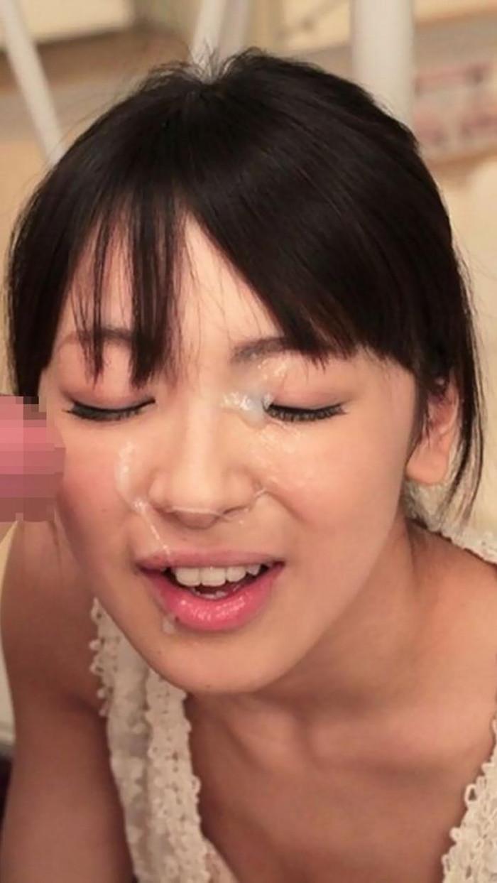 【顔射エロ画像】濃厚な男汁を可愛い女の子に顔面にぶっかけたったぞwww 04