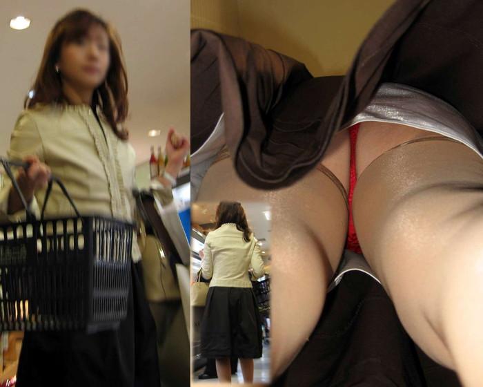 【パンチラ逆さ撮りエロ画像】この角度から狙われたらパンチラ不可避!wwwww 03