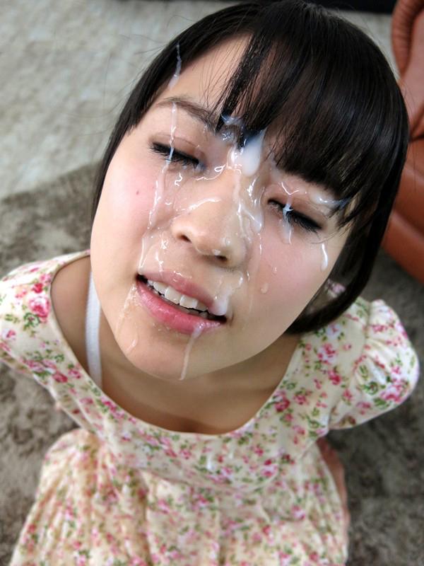 【顔射エロ画像】顔面を精子でドロッドロにされた女の子の表情をご覧ください! 03