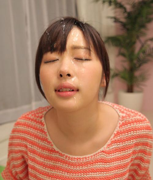 【顔射エロ画像】顔面を精子でドロッドロにされた女の子の表情をご覧ください! 08