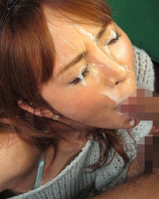 【顔射エロ画像】顔面を精子でドロッドロにされた女の子の表情をご覧ください! 09