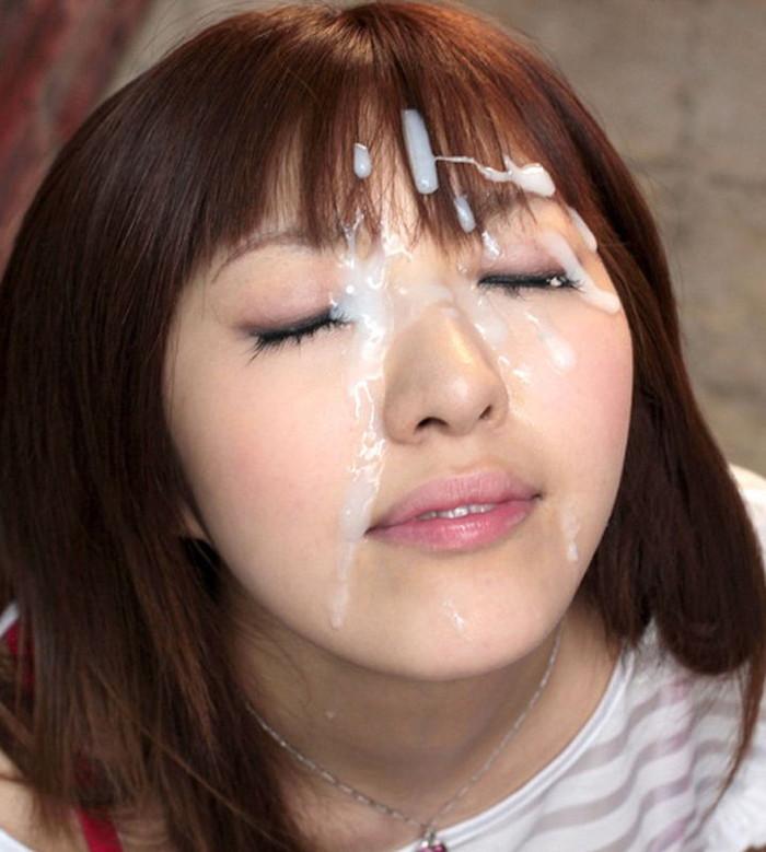 【顔射エロ画像】女の子の顔に濃厚な男汁をぶっかけるってやつwwwwww 10