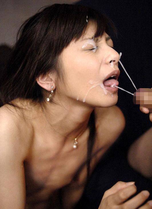 【顔射エロ画像】女の子の顔に濃厚な男汁をぶっかけるってやつwwwwww 27